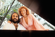 Beverlly Hills, Los Angeles, California - October 13th, 1979. Artemios (Demis) Ventouris Roussos (born June 15, 1946) and his wife Domin is a Greek singer and performer who had a string of international hit records. He has sold over 60 million albums worldwide.