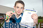 REPRESENTING IRELAND: Donnacha McGary, a Transition Year student from Mercy Mounthawk Secondary School won a silver medal in the Irish Junior Science Olympiad on Saturday and he'll represent Ireland in Azerbaijan next month.