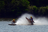 Frame 13: 40-M rides up the rooster tail of 20-M    (Outboard Hydroplane)