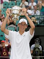 2006,Wimbledon,Thiemo De Bakker wins Wimbledon Juniors