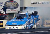 May 15, 2015; Commerce, GA, USA; NHRA funny car driver John Force during qualifying for the Southern Nationals at Atlanta Dragway. Mandatory Credit: Mark J. Rebilas-USA TODAY Sports