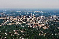 Aerial photo of Charlotte skyline taken May 2008.
