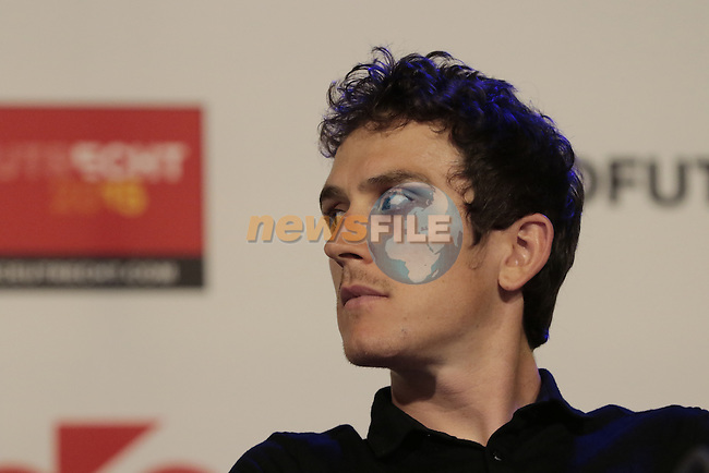 Geraint Thomas (WAL) Team Sky press conference before the start of the 2015 Tour de France in Utrecht, Netherlands. 3rd July 2015.<br /> Photo: Eoin Clarke www.newsfile.ie