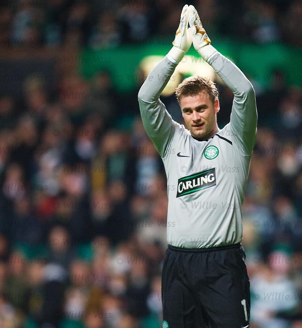Artur Boruc applauds the fans