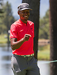 Ray Allen during the American Century Championship at Edgewood Tahoe Golf Course in Stateline, Nevada, Sunday, July 15, 2018.