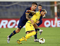 Football, Serie A: AS Roma - Hellas Verona Fc, Olympic stadium, Rome, July 15, 2020. <br /> Roma's Leonardo Spinazzola (l) in action with Verona's Mattia Zaccagni (r) during the Italian Serie A football match between Roma and Hellas Verona at Rome's Olympic stadium, on July 15, 2020. <br /> UPDATE IMAGES PRESS/Isabella Bonotto