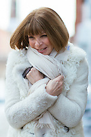 Anna Wintour attends Day 6 of New York Fashion Week on Feb 17, 2015 (Photo by Hunter Abrams/Guest of a Guest)