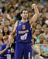 Spain's Jose Manuel Calderon during friendly match.July 24,2012. (ALTERPHOTOS/Acero) /NortePhoto.com<br /> **CREDITO*OBLIGATORIO** *No*Venta*A*Terceros*<br /> *No*Sale*So*third* ***No*Se*Permite*Hacer Archivo***No*Sale*So*third*©Imagenes*con derechos*de*autor©todos*reservados*.
