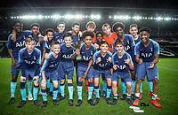 Spurs U15 team pose with the winning trophy during the Gwen and Jim Mann Academy Challenge Match between MK Dons U15 & Tottenham Hotspur U15 at stadium:mk, Milton Keynes, England on 26 April 2019. Photo by Andy Rowland.