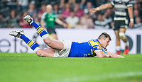 Picture by Allan McKenzie/SWpix.com - 19/04/2018 - Rugby League - Betfred Super League - Hull FC v Leeds Rhinos - KC Stadium, Kingston upon Hull, England - Leeds's Brett Ferres has a try disallowed.
