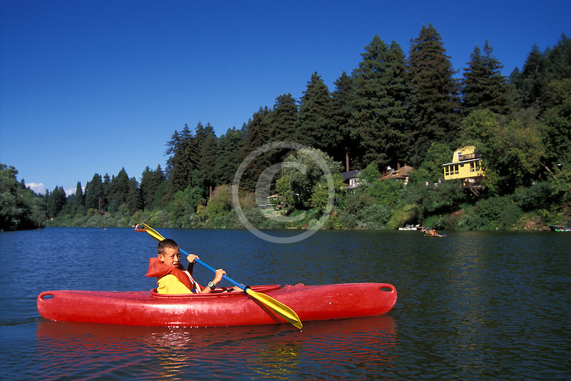 California, Russian River, Kayaking at Monte Rio
