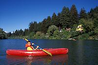 California, Russian River, Kayaking at Monte Rio