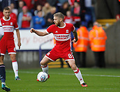 9th September 2017, Macron Stadium, Bolton, England; EFL Championship football, Bolton Wanderers versus Middlesbrough; Adam Clayton of Middlesbrough on the ball