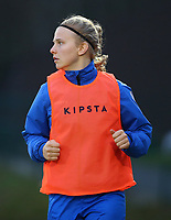 20191221 - WOLUWE: Gent's Cato Dellaert warms up during the Belgian Women's National Division 1 match between FC Femina WS Woluwe A and KAA Gent B on 21st December 2019 at State Fallon, Woluwe, Belgium. PHOTO: SPORTPIX.BE | SEVIL OKTEM