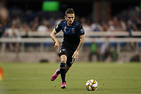 SAN JOSE, CA - SEPTEMBER 25: Paul Marie #33 of the San Jose Earthquakes during a Major League Soccer (MLS) match between the San Jose Earthquakes and the Philadelphia Union on September 25, 2019 at Avaya Stadium in San Jose, California.