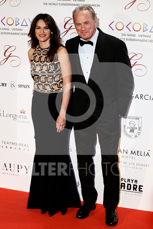 Fabiola Martinez and Bertin Osborne attends the photocall of the second Global Gift gala at the Royal Theater in Madrid, Spain. April 04, 2017. (ALTERPHOTOS / Rodrigo Jimenez)