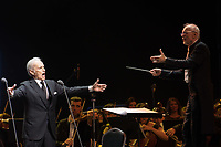 Spanish tenor singer Jose Carreras performs during his concert in Budapest, Hungary on Dec. 19, 2018. ATTILA VOLGYI
