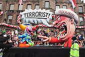 Düsseldorf, Deutschland. 27 February 2017. Terrorism in Turkey with Erdogan. Carnival parade on Shrove Monday (Rosenmontag) in Düsseldorf, North Rhine-Westphalia, Germany.