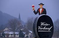 Europe/Allemagne/Forêt Noire/Glottertal : Enseigne de producteurs de vin