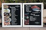 Fish Menu in Spanish in Alicante, Spain