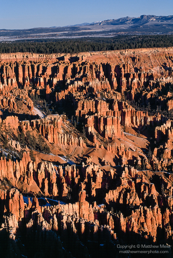 Bryce Canyon National Park, Utah; sunrise, views of Bryce Amphitheater from Bryce Point