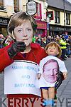 Angela Merkel with  baby Enda at the Killarney St Patricks Day parade on Sunday ..
