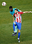 Atletico de Madrid's Yannick Ferreira Carrasco (r) and FC Barcelona's Samuel Umtiti during Spanish Kings Cup semifinal 1st leg match. February 01,2017. (ALTERPHOTOS/Acero)