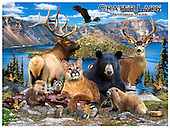 Howard, REALISTIC ANIMALS, REALISTISCHE TIERE, ANIMALES REALISTICOS, paintings+++++Crater Lake,GBHRPROV117,#A# ,puzzles