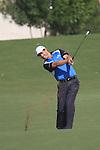 Dubai World Championship Golf. Earth Course,.Jumeirah Golf Estate, Dubai, U.A.E...Padraig Harrington playes his second shot onto the 9th green during the third round of the Dubai World Golf championship..Photo: Fran Caffrey/www.golffile.ie...