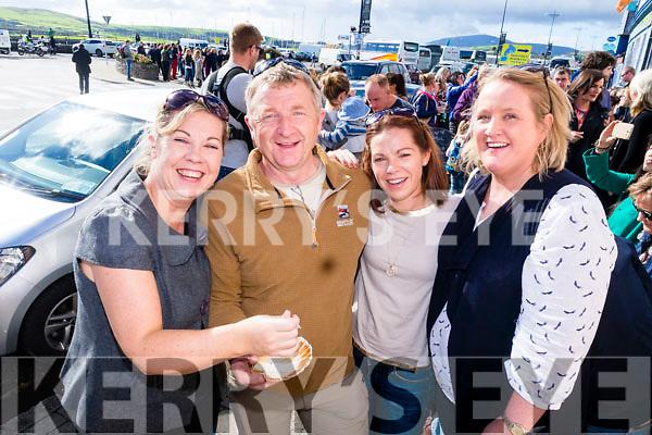 Gina Groves, Liam Ashe, Elma Huggard and Olga Ryan enjoying Dingle Food Festival on Saturday last.
