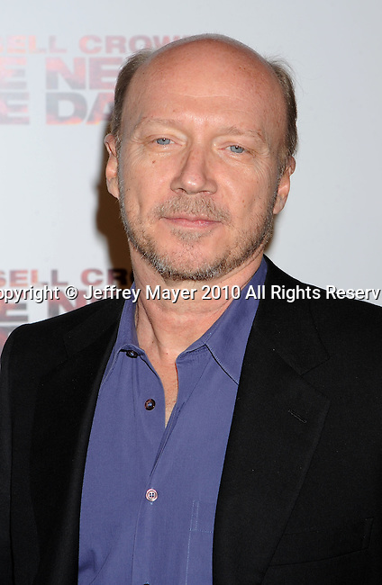 """WEST HOLLYWOOD, CA. - November 16: Paul Haggis, Writer/Director arrives at the special screening of """"The Next Three Days""""  at the Director's Guild of America on November 16, 2010 in West Hollywood, California."""