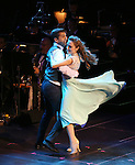 "Tony Yazbeck and Laura Osnes during the Manhattan Concert Productions 25th Anniversary concert performance of ""Crazy for You"" at David Geffen Hall, Lincoln Center on February 19, 2017 in New York City."