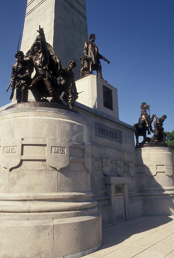 Springfield, IL, Abraham Lincoln, Illinois, The Lincoln Tomb at Oak Ridge Cemetery in Springfield.