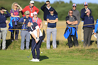 Alex Fitzpatrick (GB&I) on the 5th fairway during the final day foursomes matches at the Walker Cup, Royal Liverpool Golf Club, Hoylake, Cheshire, England. 08/09/2019.<br /> Picture Fran Caffrey / Golffile.ie<br /> <br /> All photo usage must carry mandatory copyright credit (© Golffile | Fran Caffrey)