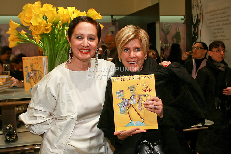 "Rebecca Moses and Suze Orman at the Rebecca Moses ""A Life of Style"" book signing at Fratelli Rossetti Boutique, November 11, 2010."