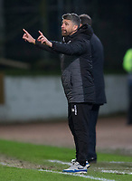12th February 2020; McDairmid Park, Perth, Perth and Kinross, Scotland; Scottish Premiership Football, St Johnstone versus Motherwell; Motherwell manager Stephen Robinson sends in instructions to his players