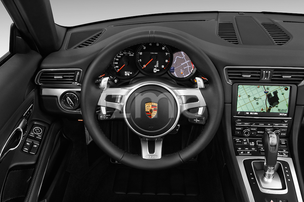 Car pictures of steering wheel view of a 2016 Porsche 911 Black Edition 2 Door convertible Steering Wheel