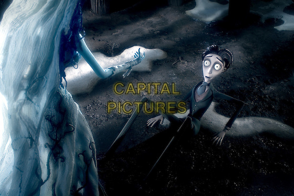JOHNNY DEPP & HELENA BONHAM CARTER.in Corpse Bride.*Editorial Use Only*.www.capitalpictures.com.sales@capitalpictures.com.Supplied by Capital Pictures.