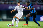 (L) Lucas Vazquez of Real Madrid CF competes for the ball with (R) Geoffrey Kondogbia of FC Internazionale Milano during the FC Internazionale Milano vs Real Madrid  as part of the International Champions Cup 2015 at the Tianhe Sports Centre on 27 July 2015 in Guangzhou, China. Photo by Aitor Alcalde / Power Sport Images
