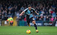 Sam Wood of Wycombe Wanderers in action during the Sky Bet League 2 match between Wycombe Wanderers and Crawley Town at Adams Park, High Wycombe, England on 28 December 2015. Photo by Andy Rowland / PRiME Media Images