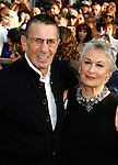 """HOLLYWOOD, CA. - April 30: Leonard Nimoy and wife Susan Bay arrive at the Los Angeles premiere of """"Star Trek"""" at the Grauman's Chinese Theater on April 30, 2009 in Hollywood, California."""