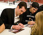 Raphael Girard (Harvard - 30), Conor Morrison (Harvard - 38) - The Yale University Bulldogs defeated the Harvard University Crimson 5-1 on Saturday, November 3, 2012, at Bright Hockey Center in Boston, Massachusetts.