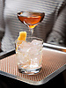 A drink in the bar at The Albert restaurant, inside the new Hotel EMC2 in Chicago, IL. Photo by Kevin J. Miyazaki/PLATE