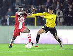 2015-10-30 / Voetbal / seizoen 2015-2016 / SK Lierse - R. Antwerp FC / Johanna Omolo (l. Antwerp) met Sabir Bougrine<br /><br />Foto: Mpics.be