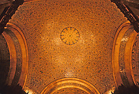 New York: Woolworth Building--Lobby Ceiling. Photo '78.