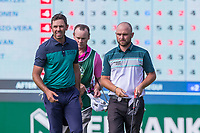 Charl Schwartzel (RSA) and Andy Sullivan (ENG) during the first round at the Nedbank Golf Challenge hosted by Gary Player,  Gary Player country Club, Sun City, Rustenburg, South Africa. 08/11/2018 <br /> Picture: Golffile | Heinrich Helmbold<br /> <br /> <br /> All photo usage must carry mandatory copyright credit (&copy; Golffile | Heinrich Helmbold)