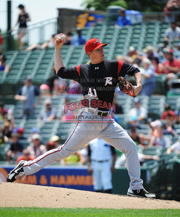 Richmond Flying Squirrels pitcher Craig Westcott (41) during game against the Trenton Thunder at ARM & HAMMER Park on June 9 2013 in Trenton, NJ.  Trenton defeated Richmond 3-2.  Tomasso DeRosa/Four Seam Images