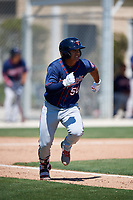 Minnesota Twins Lean Marrero (50) during a Minor League Spring Training game against the Tampa Bay Rays on March 15, 2018 at CenturyLink Sports Complex in Fort Myers, Florida.  (Mike Janes/Four Seam Images)