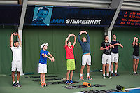 Almere, Netherlands, 24 september 2016, Kickoff Jong Oranje, warming up<br /> Photo: Tennisimages.com/Henk Koster