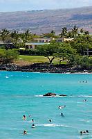 Hapuna Beach State Park and the The private suite at Hapuna Prince resort, south Kohala coast, The Big Island of Hawaii